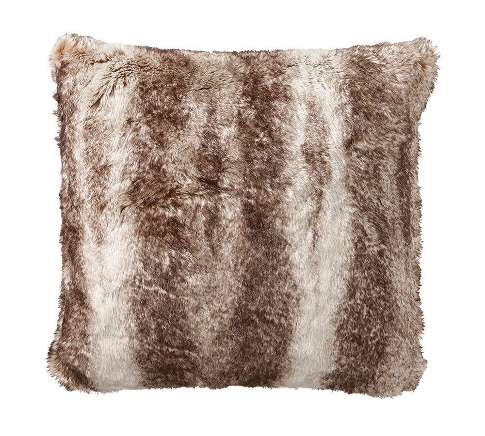 Holiday Decor Gift Ideas Pottery Barn Edition All My: Faux Fur Pillow Cover - Caramel Ombre