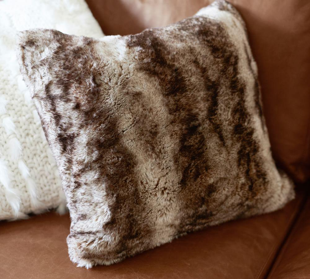 Faux Fur Pillow Cover Caramel Ombre Pottery Barn Ca