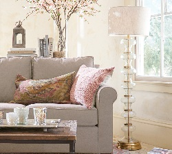 Jasmine Glass Floor Lamp Base
