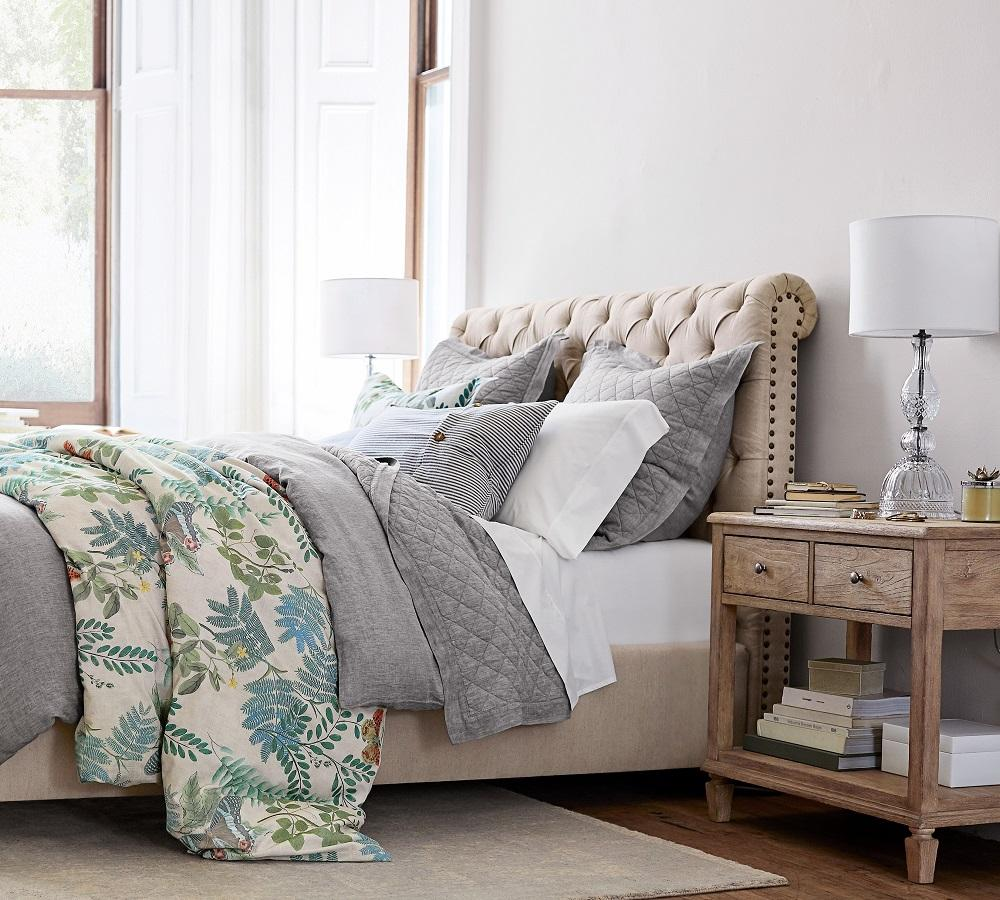 Chesterfield Upholstered Bed Pottery Barn Ca