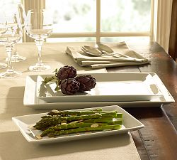 Great White Porcelain Rectangular Serving Platters
