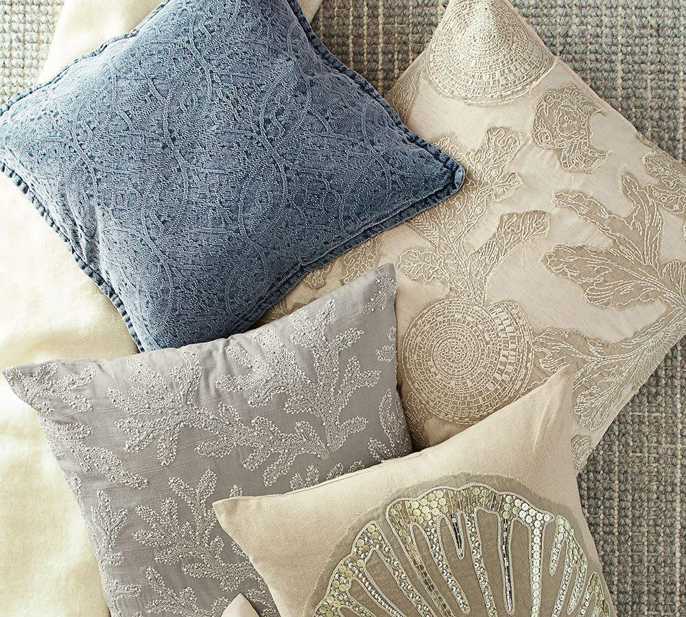 Chenille Jacquard Pillow Covers Pottery Barn Ca