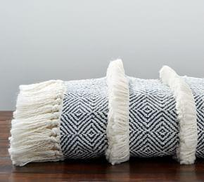 Fringe Stripe Throw
