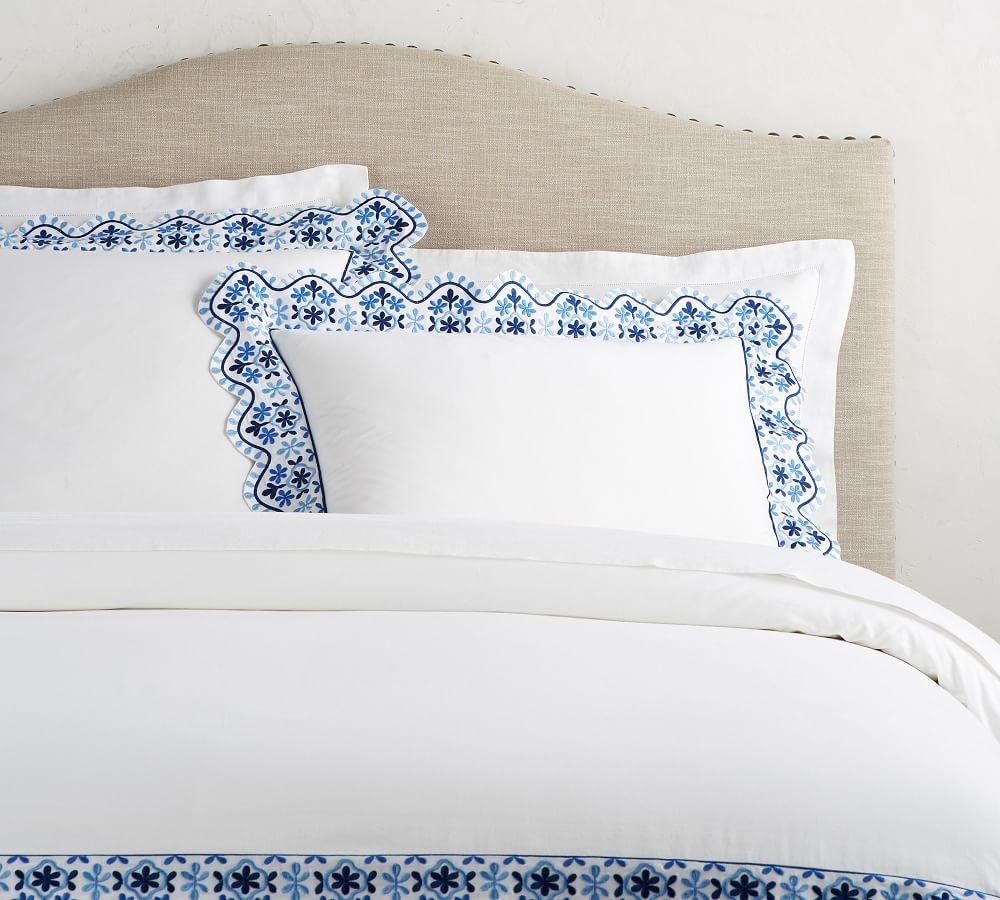 Zoe Scallop Embroidered Duvet Cover & Sham