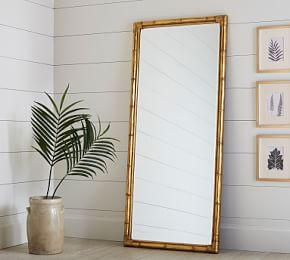 Bamboo Floor Mirror