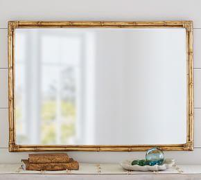 Bamboo Gold Accent Mirror