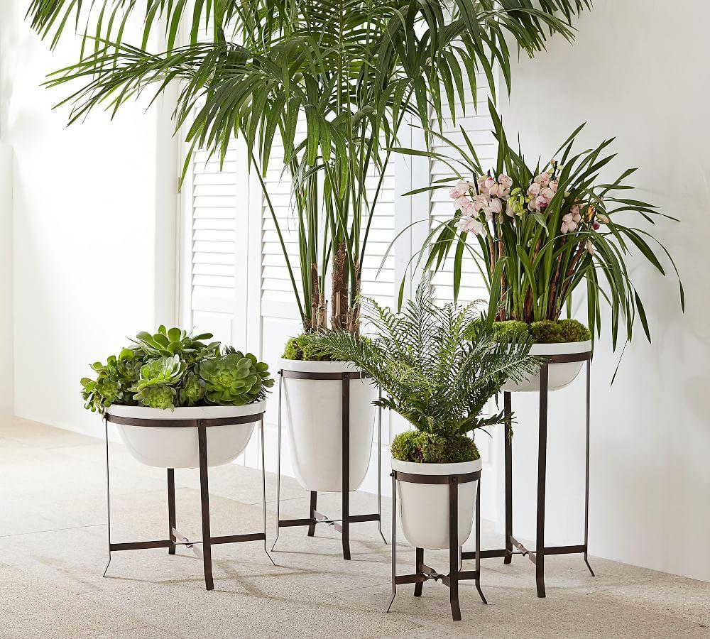 Amir Planter With Stand Tall Bowl