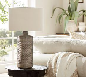 Jamie Young Emma Ceramic Column Table Lamp