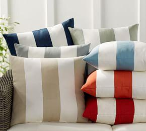PB Classic Striped Indoor/Outdoor Pillow