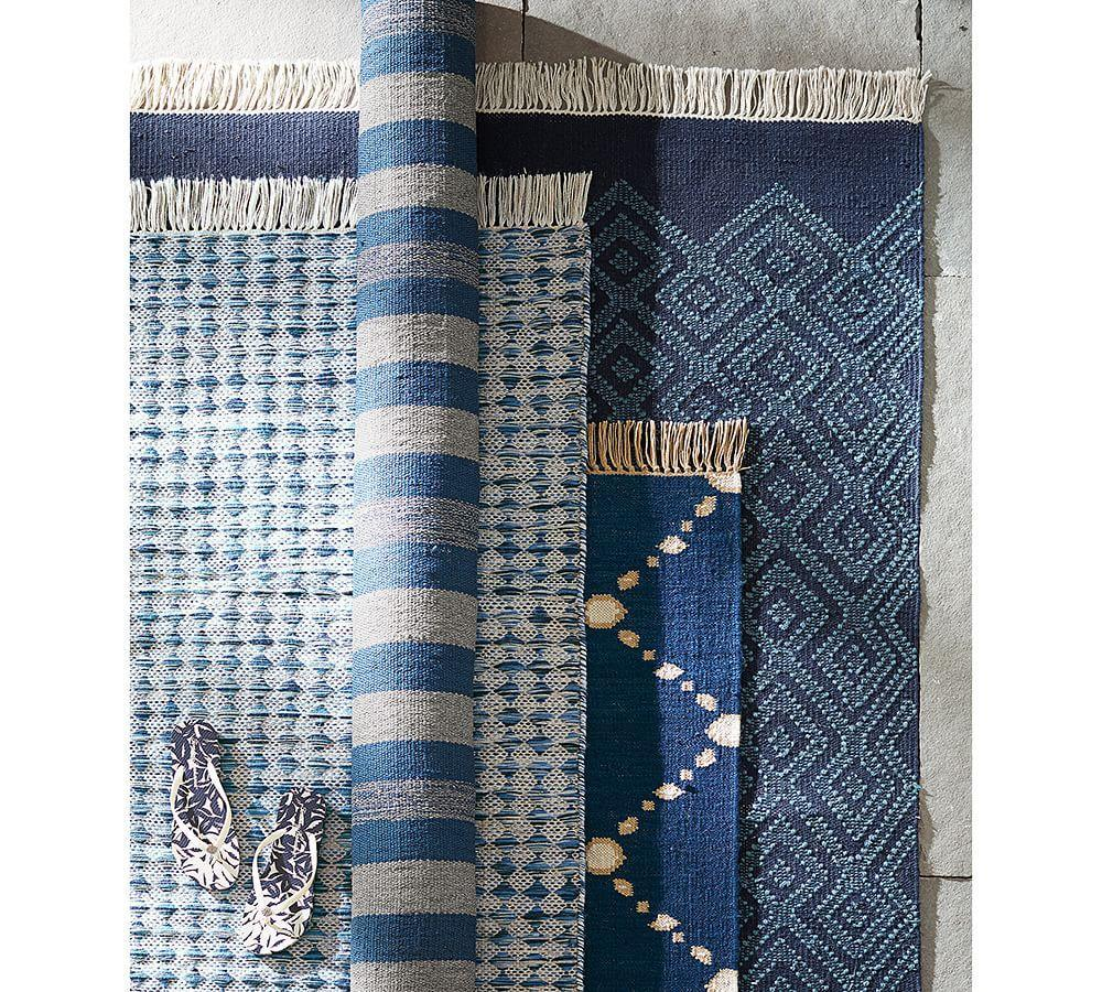 Oden Indoor Outdoor Rug Blue Pottery Barn Ca