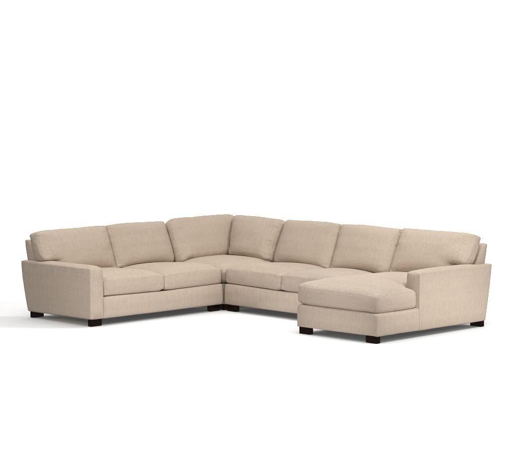 Turner Square Arm Upholstered 4 Piece Chaise Sectional