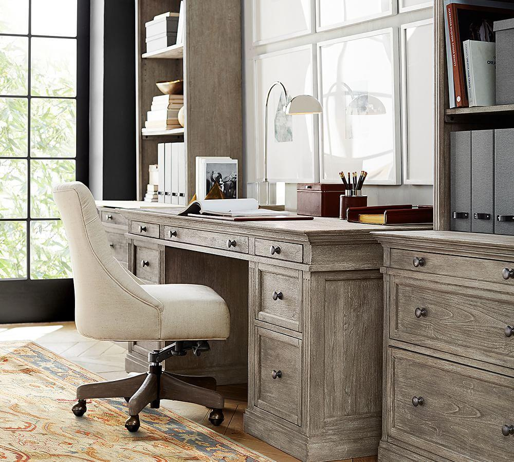 Livingston Executive Desk Pottery Barn Ca