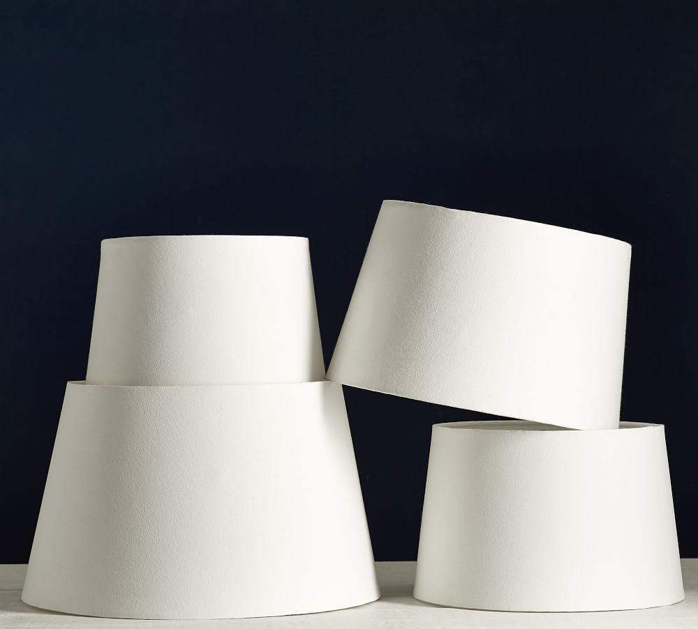 Gallery Tapered Lamp Shade, Rolled Edge