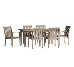 Chatham Butterfly Extension Table & Arm Chair Dining Set - Gray