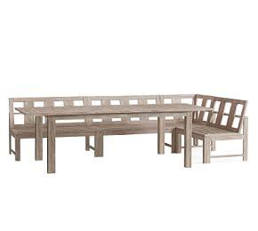 Indio Extending Table & Banquette Dining Set