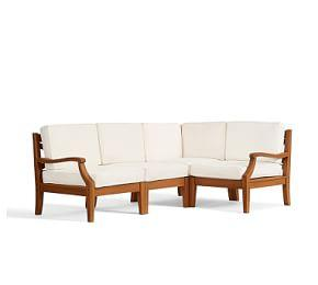 Hampstead Teak Sectional Set, Honey