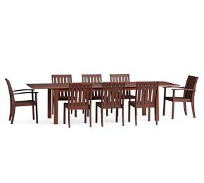 Chatham Extra-Large Extending Table with Chair Dining Set, Honey