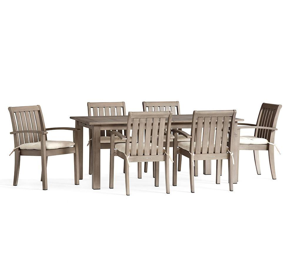 Chatham Butterfly Extension Table with Armchair Dining Set, Gray