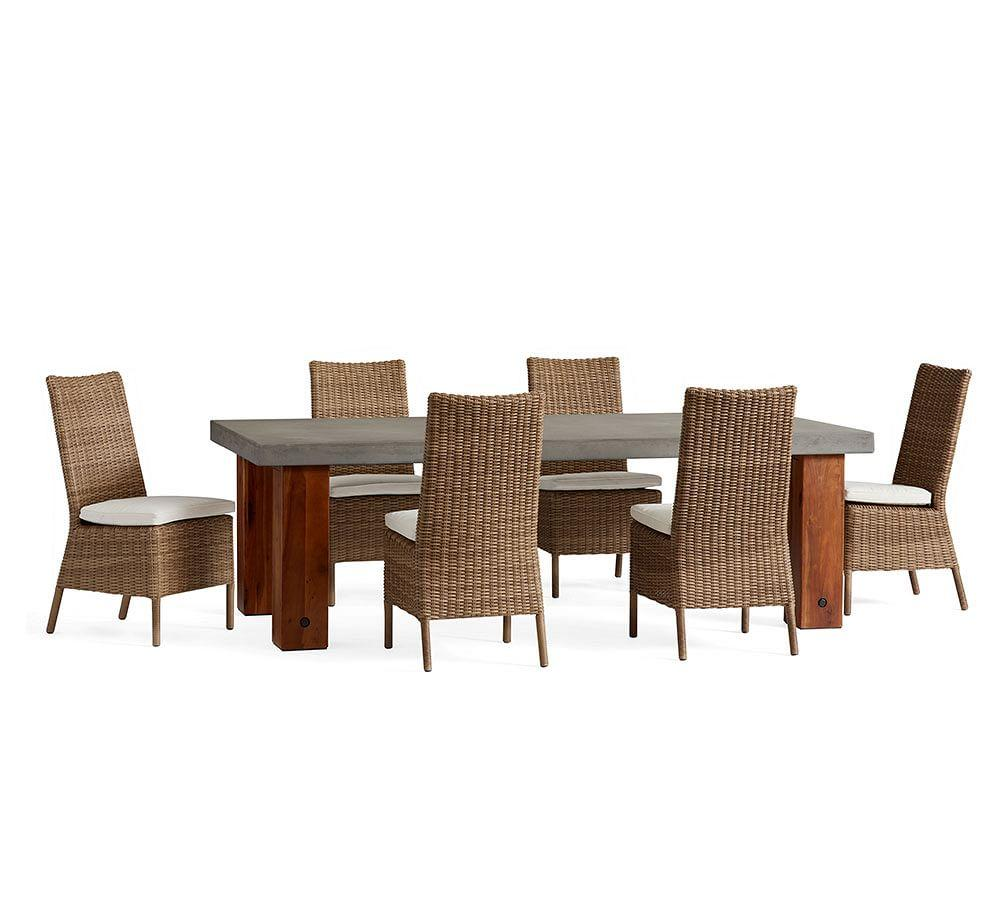 Abbott Chunky Leg Table & Torrey Natural Chair Dining Set