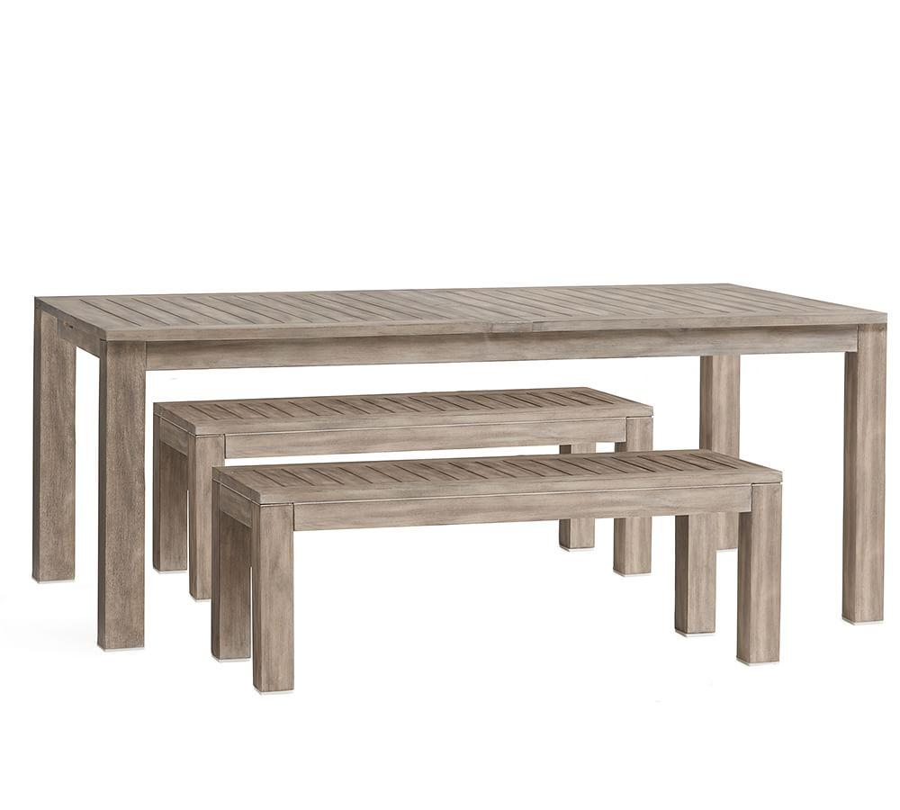 Indio Extending Table & Bench Dining Set