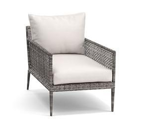 Cammeray All-Weather Wicker Occasional Chair, Gray