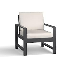 Indio Metal Occasional Chair, Slate