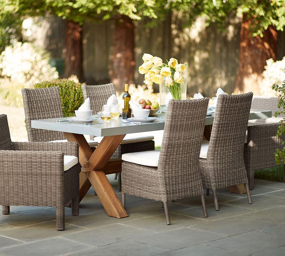 Torrey All Weather Wicker Dining Side Chair, Natural