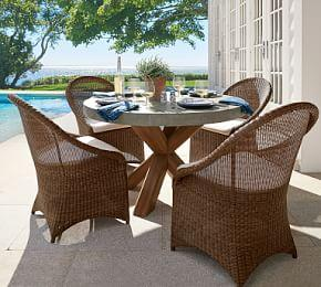 Palmetto All-Weather Wicker Dining Chair, Honey