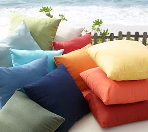 Sunbrella® Solid Indoor/Outdoor Pillow