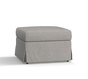 SoMa Brady Slope Arm Slipcovered Ottoman