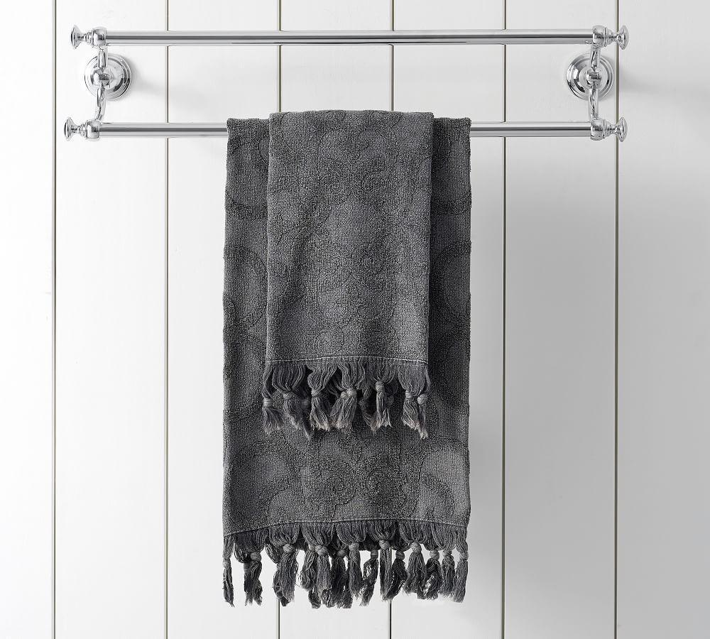 Sculpted Stonewashed Towel