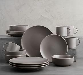 Mason 16 Piece Dinnerware Set - Graphite Gray