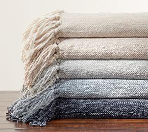 Chenille Fringe Throw