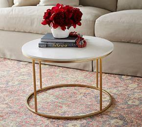 Delaney Marble Round Coffee Table