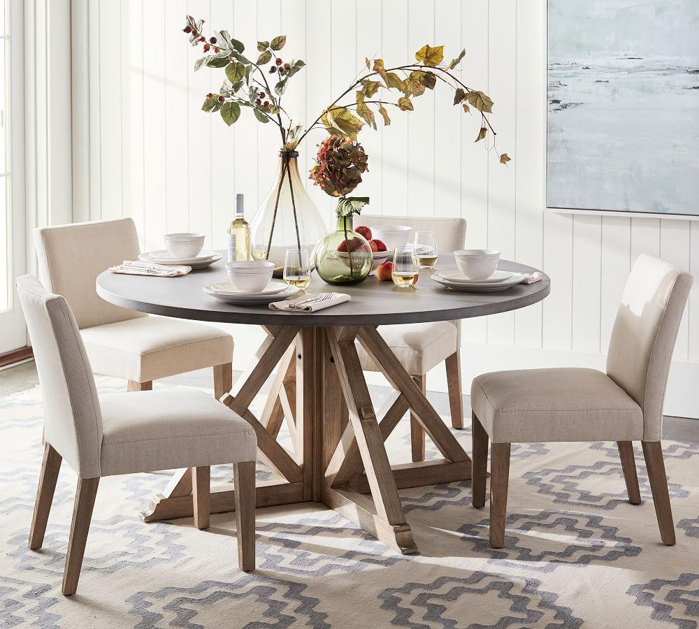Brooks Round Dining Table Pottery Barn Ca