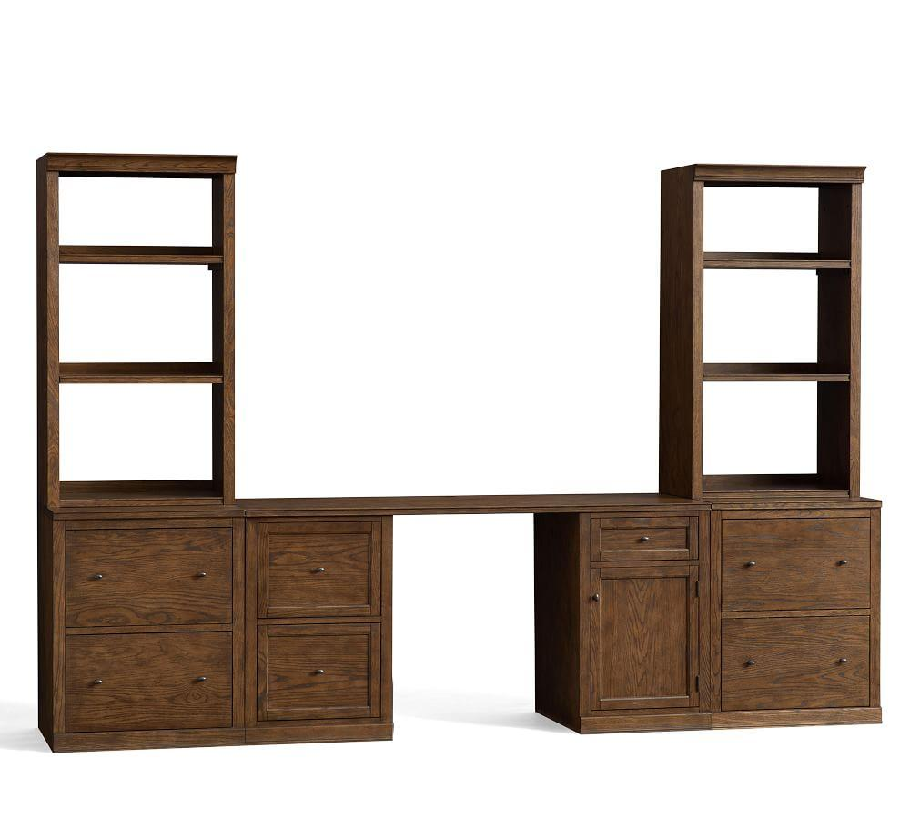 Logan Small Office Suite with File Cabinet Bookcases