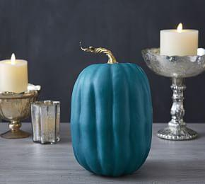 Faux Teal Pumpkin