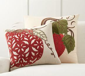 Velvet Pickstitch Pumpkin Pillow Cover