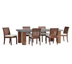 Abbott Brown Chunky Leg Dining Table with Chatham Chair Set, Honey