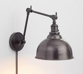PB Classic Curved Metal Bell Articulating Sconce