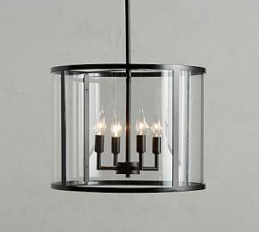 Manor Indoor/Outdoor Round Glass Pendant