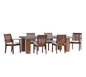 Abbott Chunky Leg Dining Table, Brown & Chatham Chair Dining Set