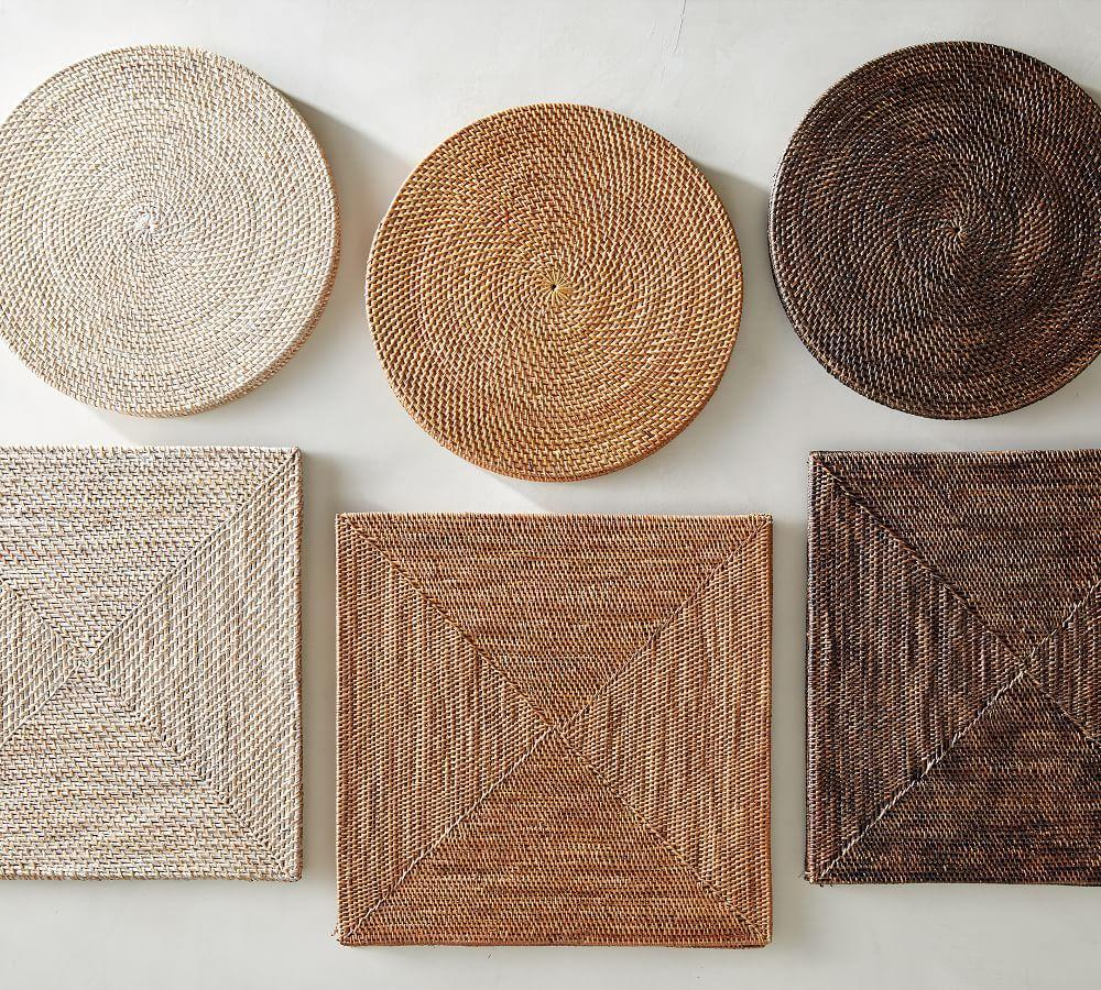 Tava Flat Round Placemat Natural Pottery Barn Ca