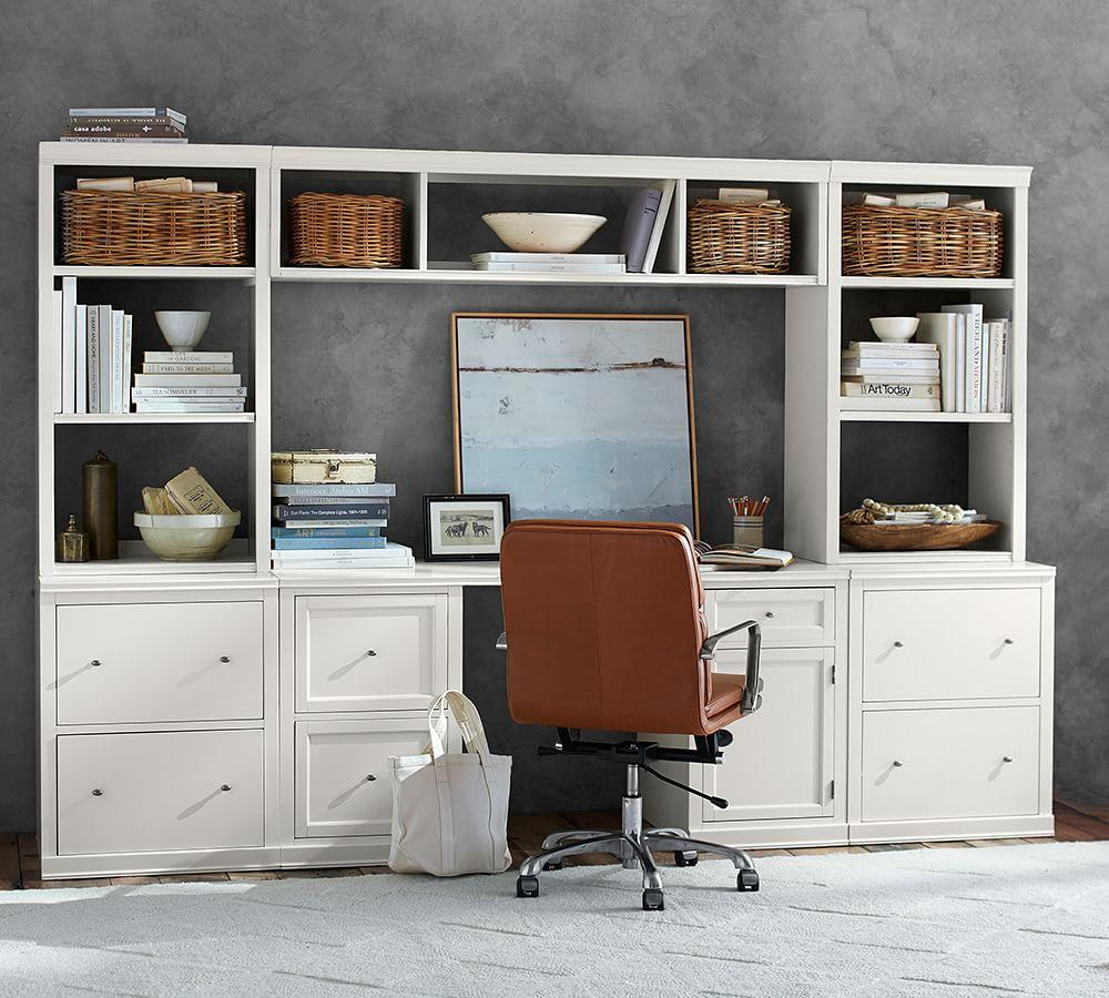 Logan Office Suite with File Cabinets & Bridge
