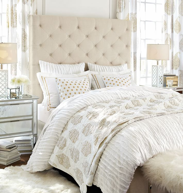 Lorraine Tufted Tall Bed