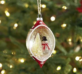 Red Snowman Cloche Ornament