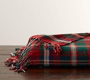 Lynbrook Plaid Throw