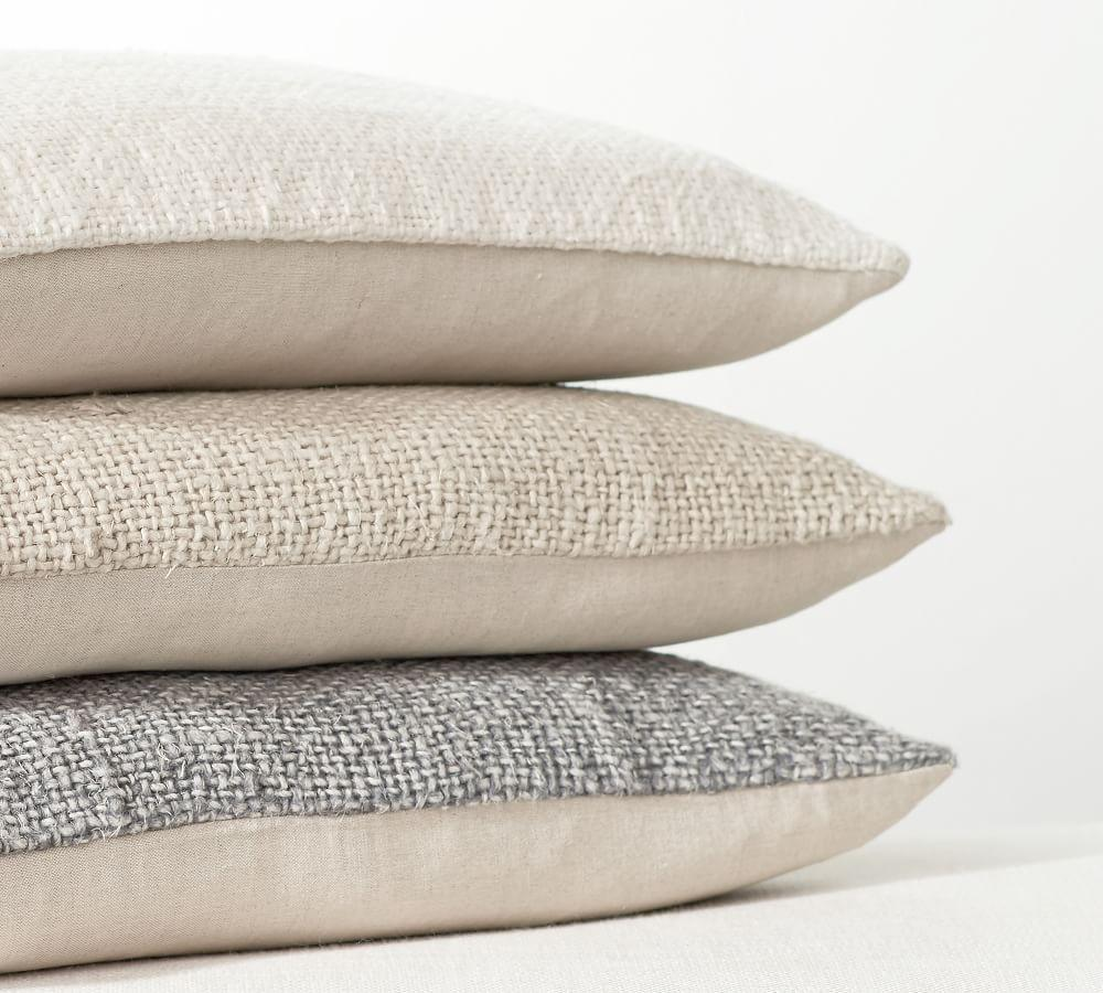 Faye Textured Linen Pillow Covers Pottery Barn Ca