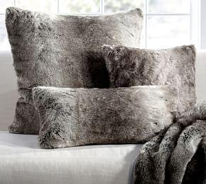 Faux Fur Cushion Cover - Grey Ombre