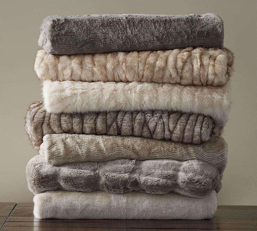 Faux Fur Throw Pottery Barn Ca